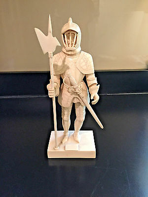 Vintage Carved Knight Statue, HIghly Detailed, Prob 19th Century
