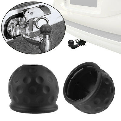 50mm New Tow Bar Ball Case Towball Protect Car Hitch Cover Black Rubber