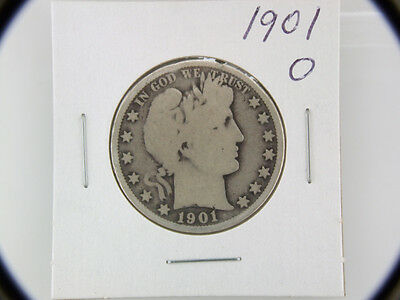 1901 O Barber Half Dollar Silver US Coin ~