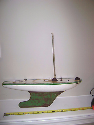 ANTIQUE Pond Boat STAR YACHT NORTHERN STAR  SAILBOAT Birkenhead England
