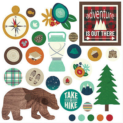 Simple Stories Cabin Fever (1) Pack Decorative Brads Embellishments