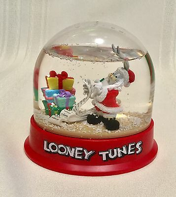 VINTAGE 1996 Bugs Bunny Looney Tunes Snow Globe Collectible WARNER  BROTHERS