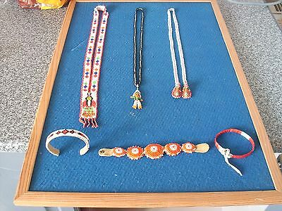 native american bead work=braclets -necklaces -tribe sioux-antique