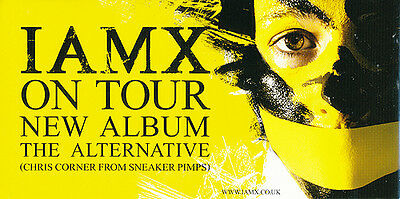 IAMX The Alternative RARE promo sticker + collectible card '06