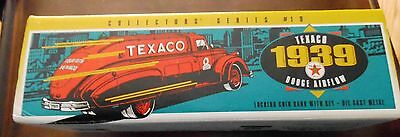 Texaco 1939 Dodge Airflow Die Cast Metal Truck W/locking Coin Bank And Key Ertl
