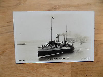 Queen Of Thanet Paddle Steamer Postcard A15P18