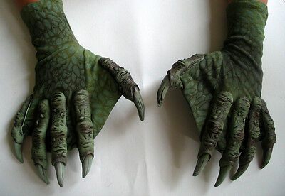 Sea Creature Monster Lizard Claws Hands Scary Adult Halloween Costume Gloves