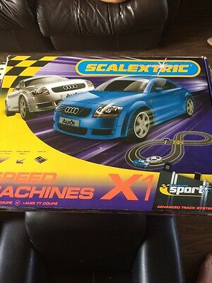 Scalextric Speed Machines Set - Audi Cars - COMPLETE Hardly Used WORKING VGC