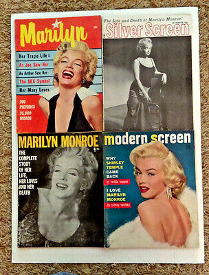 MARILYN MONROE collection of RARE magazines 1953-1962 4 set!