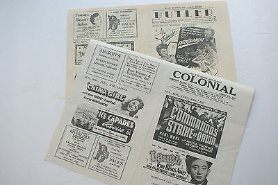Lot of 2 - WWII Pompton Lakes & Butler NJ Movie Theatre Flyers - POSTPAID!