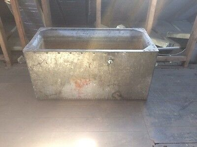 Antique / Vintage / Galvanised Steel Water Tank