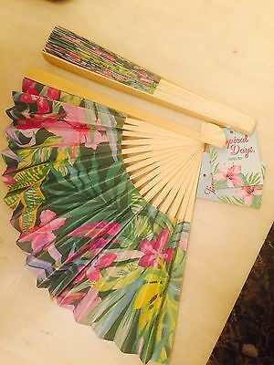 Hand Held Fan For Ladies Tropical Fan Bamboo Summer Accessory