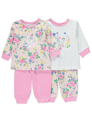 George Official Disney Baby Bambi Floral Pyjamas Set 2 Pack