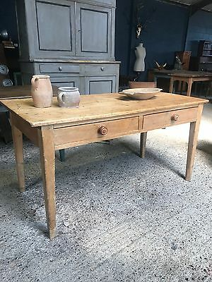 Lovely Victorian Antique Country Farmhouse Kitchen Dining Table