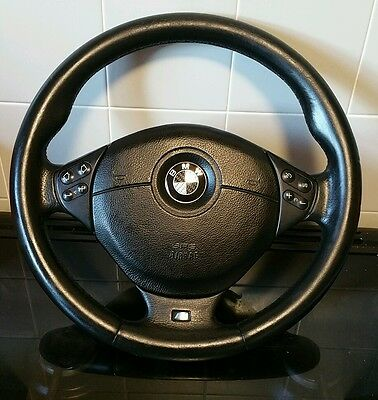 BMW e39 e46 msport multifunction steering wheel with airbag included