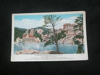 Sylvan Lake  Black Hills   South Dakota     Postcard