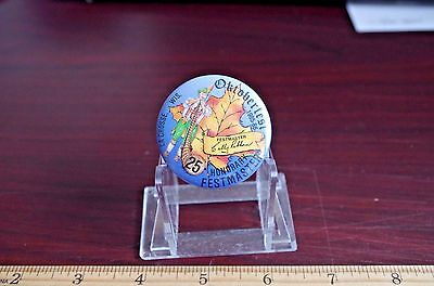 Honorary Festmaster Oktoberfest LaCrosse, Wi. Button 1985-86 25th Anniversary
