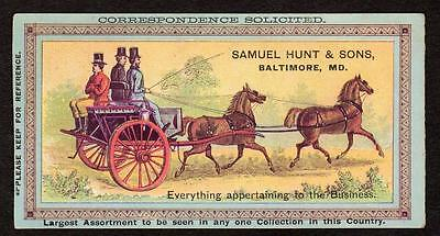 Baltimore Maryland*md*samuel Hunt & Sons*harness*saddles*bits*spurs*stable Goods