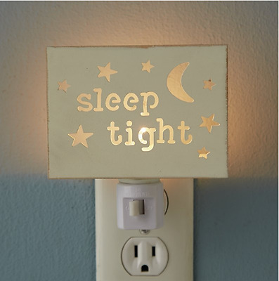 Twinkle Night Light Nursery Wall Decor Replaceable Bulb Projected Display New