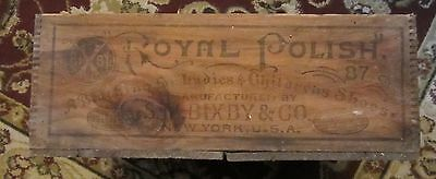 Bixby Royal Polish Blacking Wooden Advertising Box Ladies Childrens Shoes Crate