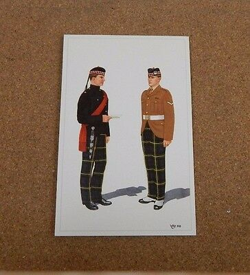 Military Uniforms Postcard The Gordon  Highlanders blue patrol unposted