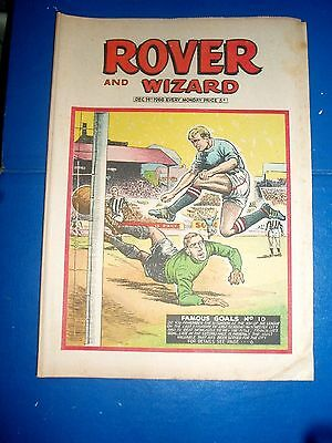 Man City Champs 1968 Francis Lee Goal At Newcastle Cover   Rover Comic 1969