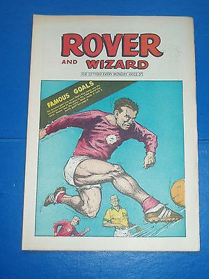 1966 WORLD CUP BRAZIL v HUNGARY GOODISON PARK  COVER ROVER COMIC 1969