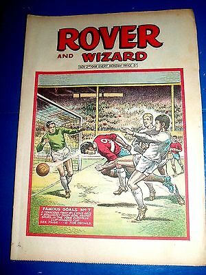 SPURS v OLYMPIC LYONS 1968 ECWC  FAMOUS GOALS COVER   ROVER COMIC 1969