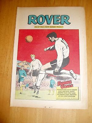 CHELSEA v DERBY  68/9 HECTOR GOAL COVER  ROVER COMIC 1969
