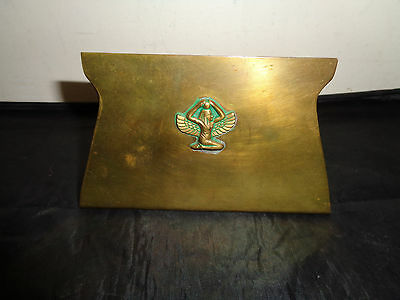 Antique Arts & Crafts Egyptian Revival Brass Bookend
