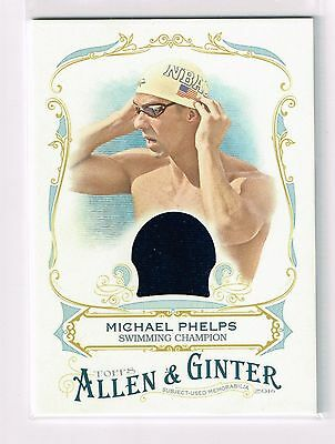 2016 Topps Allen and Ginter Relics #FSRAMP Michael Phelps Swimming USA Olympics