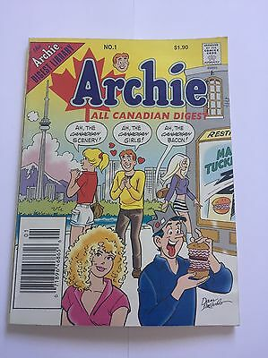 Archie All Canadian Digest #1 (Aug 1996, Archie) / Comic / Collectible / Cartoon