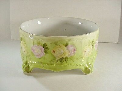 Tettau Porcelain Factory (Royal Bayreuth) Ft'd Bowl, Hand Painted Roses