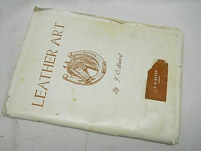 F. O. Baird Leather Monograms Art Designs Patterns Instructions Manual Vintage