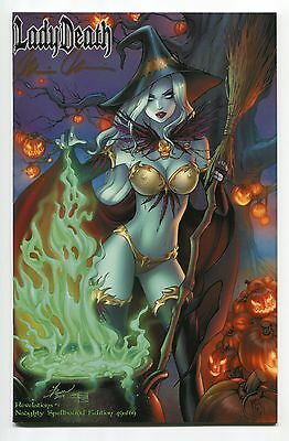 Lady Death Revelations #1 Spellbound NAUGHTY Variant Dawn McTeigue Cover Signed