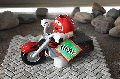 2004 RED  M&M Riding Motorcycle Ceramic Candy Dish NWT by Galerie (NEW)