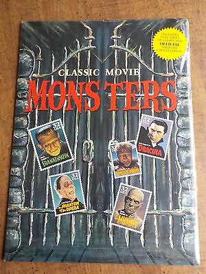 Classic Movie Monsters 32 Cent Stamp Mint Pane 20 1st day Folder Sealed PARTIAL