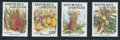 "Gabon #665-8 ""FRUIT"" COMPLETE SET OF (1989); MNH; **PRISTINE**"