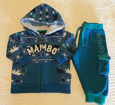 Super cute size1 baby boys two piece winter Mambo set
