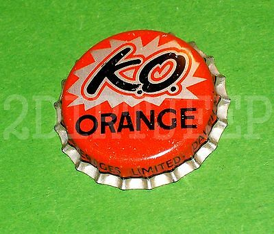 K.o. Knock Out Orange Flavored Soda Vintage Pow Pop Old Cork Unused Bottle Cap