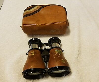 Vintage Jeno Binoculars w/Case (Pre-Owned) Made in France