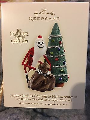 "Hallmark Ornament 2007 ""Sandy Claws is coming to Halloweentown""."