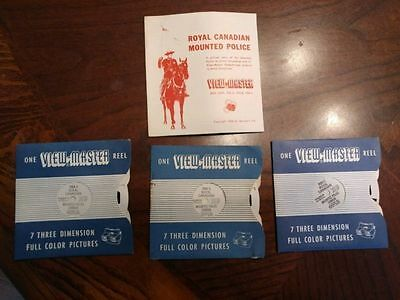 Sawyer's Viewmaster Reel,Booklet,1956,Royal Canadian Mounted Police, 705-A,B,C