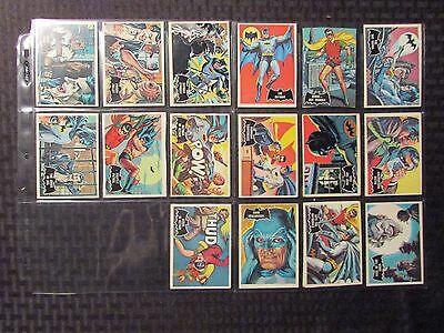 1966 BATMAN Topps Black Bat Trading Cards LOT of 46 VG to FN All Different