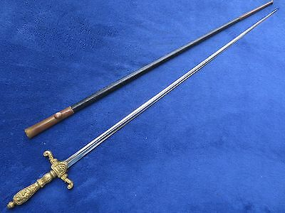 Very Rare M1840 Medical Staff Us Sword And Scabbard