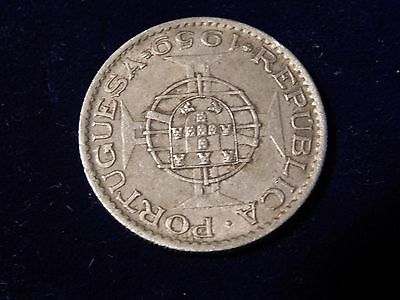 PORTUGAL INDIA   3 Escudos 1959     NICE COIN   SCARCE