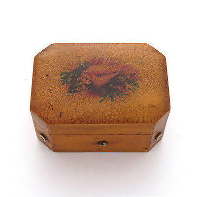 Antique Victorian Mauchline Clark & Co's Octagonal Shellware Thread Box