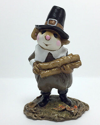 PILGRIM'S WELCOME Large Wee Forest Folk 1994, Retired 1997! WFF# M-198 EXCELLENT