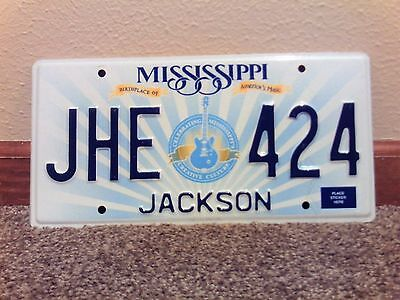 """2012 Mississippi License plate """"Birth place of Americas Music"""""""