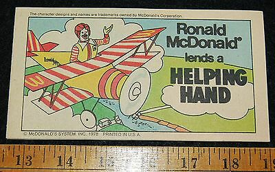 [ 1978 McDONALDLAND Comic Book - Ronald, Mayor McCheese, Grimace - McDonald's ]